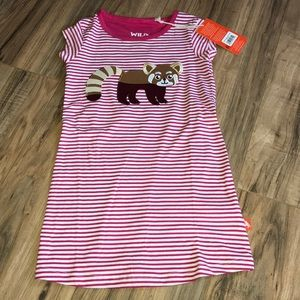 NWT Wild Republic raccoon organic cotton dress